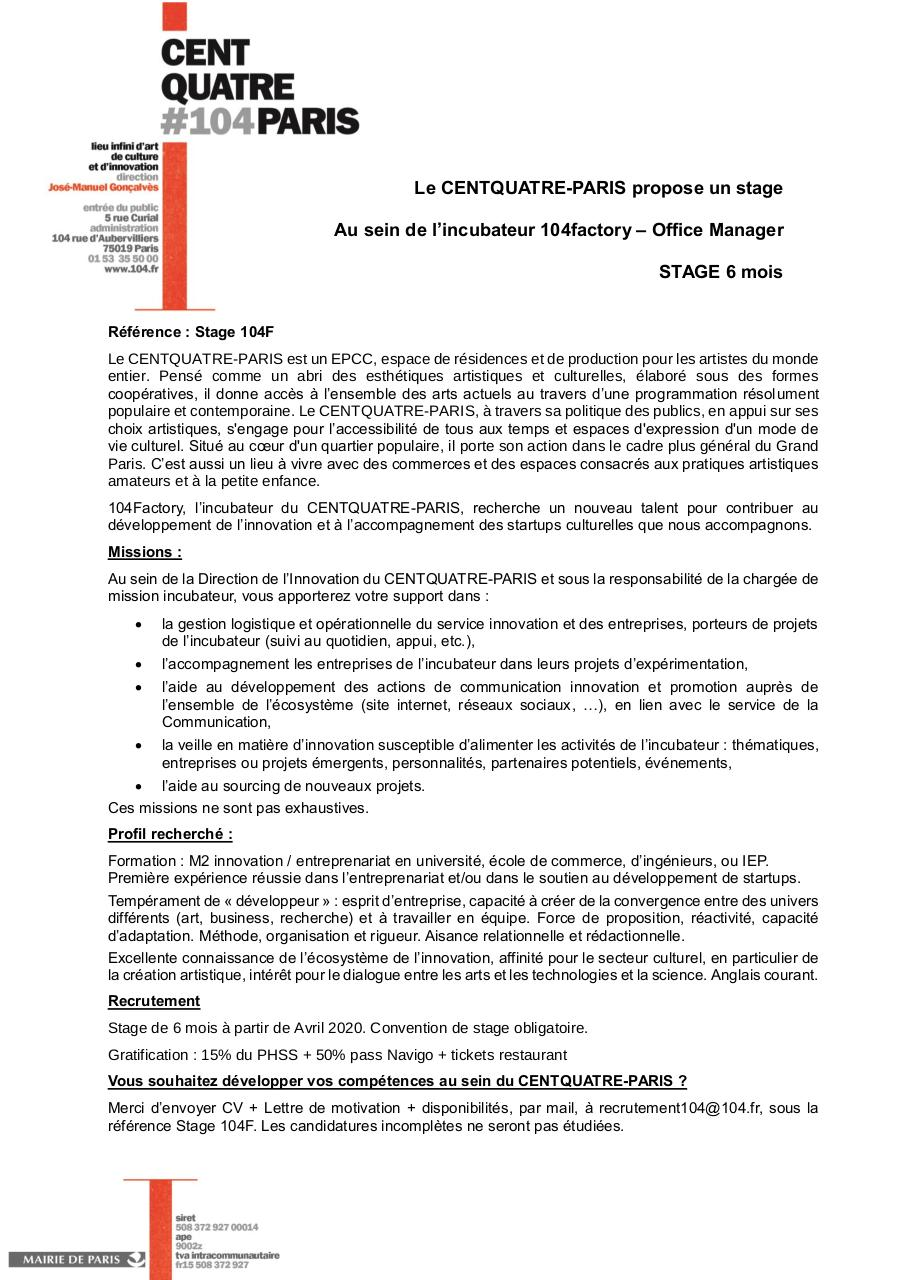 Aperçu du document Recrutement Stage incubateur 2020.pdf - page 1/1