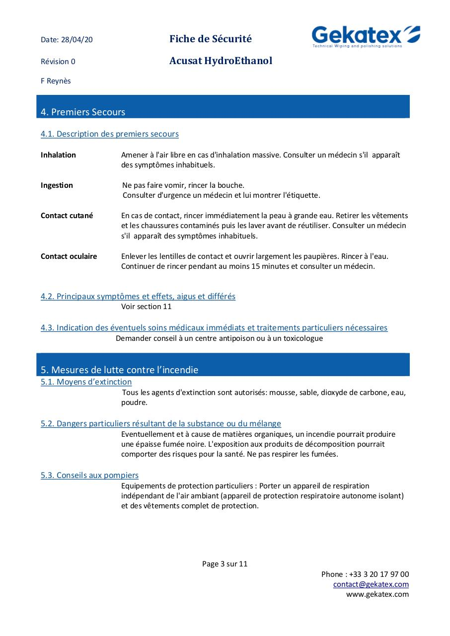 FDS  Acusat HYDROETHANOL FRENCH V00.pdf - page 3/11