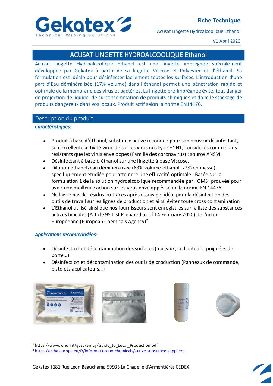 FT - WS00003557 - Acusat HydroEthanol.pdf - page 1/3