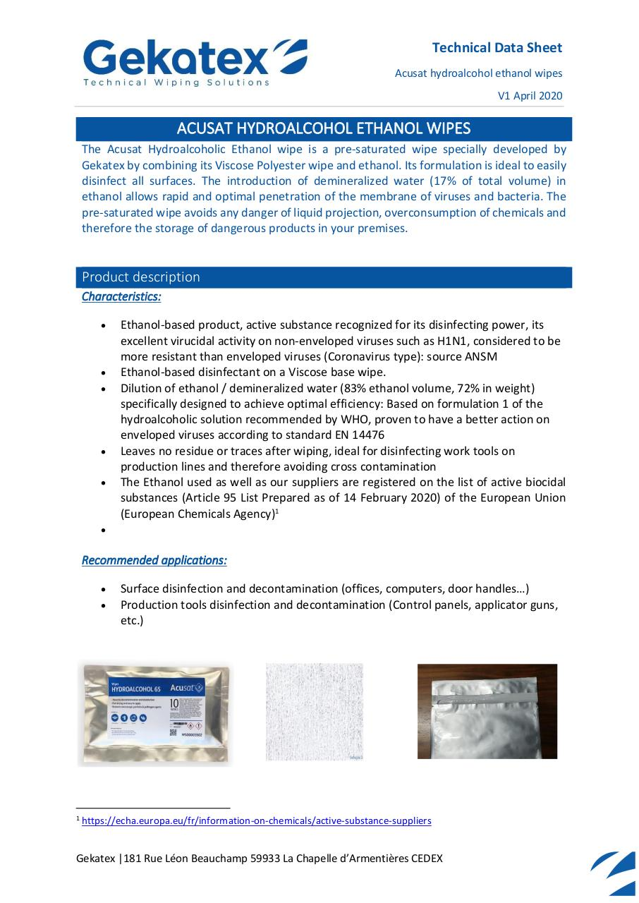 TDS - WS0003557 - Acusat HydroEthanol - ENG.pdf - page 1/3